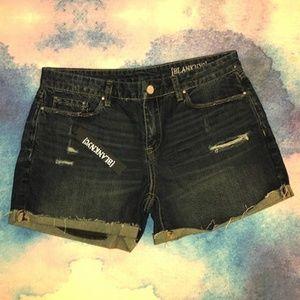 Blank NYC Cuffed Distressed Denim Shorts